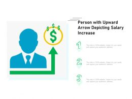Person With Upward Arrow Depicting Salary Increase