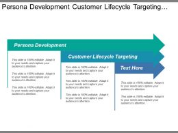 Persona Development Customer Lifecycle Targeting Online Value Proposition