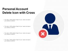 Personal Account Delete Icon With Cross