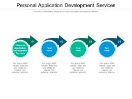 Personal Application Development Services Ppt Powerpoint Presentation Pictures Graphics Cpb