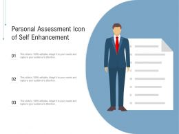 Personal Assessment Icon Of Self Enhancement