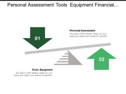 Personal Assessment Tools Equipment Financial Projections Customer Value