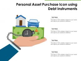 Personal Asset Purchase Icon Using Debt Instruments