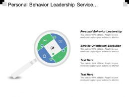 Personal Behavior Leadership Service Orientation Execution Strategic Contribution