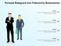 Personal Bodyguard Icon Followed By Businessman