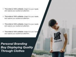 Personal Branding Boy Displaying Quality Through Clothes