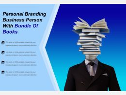 Personal Branding Business Person With Bundle Of Books