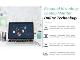 Personal Branding Laptop Monitor Online Technology