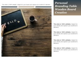 Personal Branding Table Wooden Board Creative