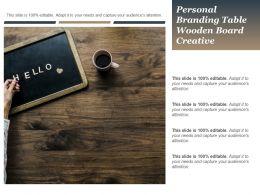 Personal Branding Table Wooden Board Creative