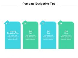 Personal Budgeting Tips Ppt Powerpoint Presentation Outline Diagrams Cpb