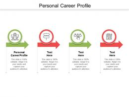 Personal Career Profile Ppt Powerpoint Presentation Infographic Template Elements Cpb