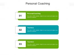 Personal Coaching Ppt Powerpoint Presentation Design Ideas Cpb