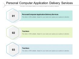 Personal Computer Application Delivery Services Ppt Visual Aids Slides Cpb