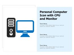 Personal Computer Icon With Cpu And Monitor