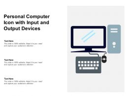 Personal Computer Icon With Input And Output Devices