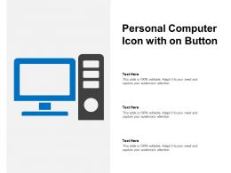 Personal Computer Icon With On Button