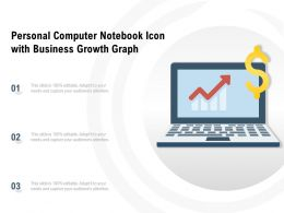 Personal Computer Notebook Icon With Business Growth Graph