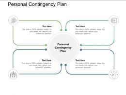 Personal Contingency Plan Ppt Powerpoint Presentation Show Maker Cpb
