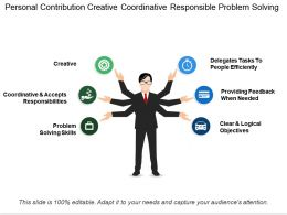 Personal Contribution Creative Coordinative Responsible Problem Solving