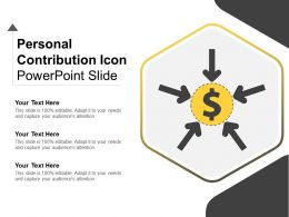 Personal Contribution Icon Powerpoint Slide