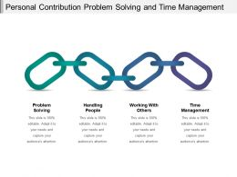 Personal Contribution Problem Solving And Time Management