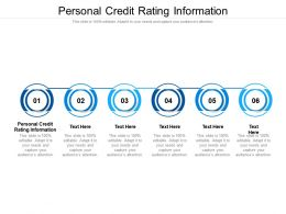 Personal Credit Rating Information Ppt Powerpoint Presentation Summary Infographics Cpb