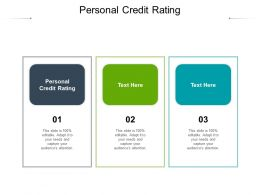 Personal Credit Rating Ppt Powerpoint Presentation Infographics Rules Cpb