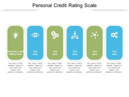 Personal Credit Rating Scale Ppt Powerpoint Presentation Styles Visual Aids Cpb