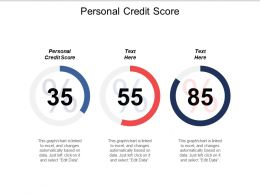 Personal Credit Score Ppt Powerpoint Presentation Icon Example Cpb
