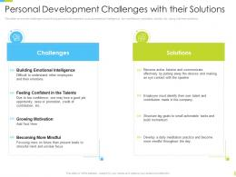 Personal Development Challenges With Their Solutions Corporate Journey Ppt Slides