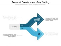 Personal Development Goal Setting Ppt Powerpoint Presentation Gallery Slide Portrait Cpb