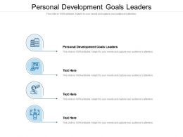 Personal Development Goals Leaders Ppt Powerpoint Presentation Visual Aids Example 2015 Cpb