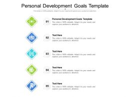 Personal Development Goals Template Ppt Powerpoint Presentation Show Guidelines Cpb