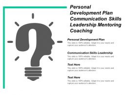Personal Development Plan Communication Skills Leadership Mentoring Coaching Cpb