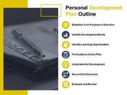 personal_development_plan_outline_establish_your_purpose_or_direction_Slide01