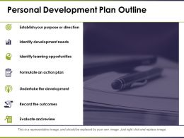 Personal Development Plan Outline Evaluate And Review