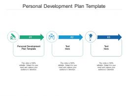 Personal Development Plan Template Ppt Powerpoint Presentation Gallery Graphics Cpb