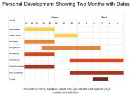 Personal Development Showing Two Months With Dates