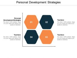 Personal Development Strategies Ppt Powerpoint Presentation Professional Mockup Cpb