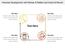 Personal Development With Review And Reflect And Action And Record