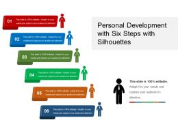 Personal Development With Six Steps With Silhouettes