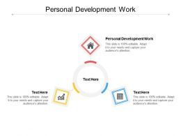 Personal Development Work Ppt Powerpoint Presentation Styles Example Introduction Cpb