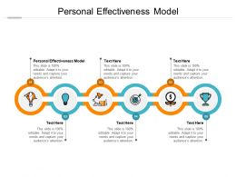 Personal Effectiveness Model Ppt Powerpoint Presentation File Smartart Cpb