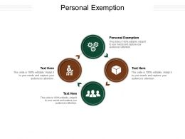 Personal Exemption Ppt Powerpoint Presentation Summary Aids Cpb