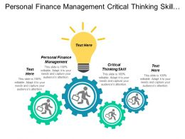 Personal Finance Management Critical Thinking Skill Negotiation Management Cpb