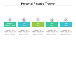 Personal Finance Tracker Ppt Powerpoint Presentation Model Slideshow Cpb