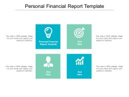 Personal Financial Report Template Ppt Powerpoint Presentation Show Structure Cpb