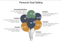 Personal Goal Setting Ppt Powerpoint Presentation Infographic Template Visual Aids Cpb