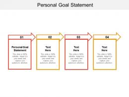 Personal Goal Statement Ppt Powerpoint Presentation Infographic Template Grid Cpb